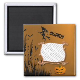Photo Frame, Witch, Jack o' Lantern Magnet