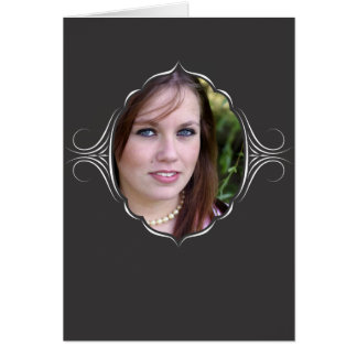 Photo frame with tribal look. card