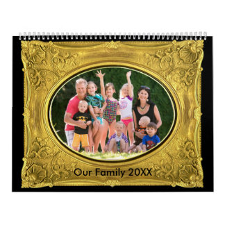 Photo Frames with Pics Two Page Calendar