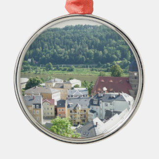 Photo from Germany Round Metal Christmas Ornament