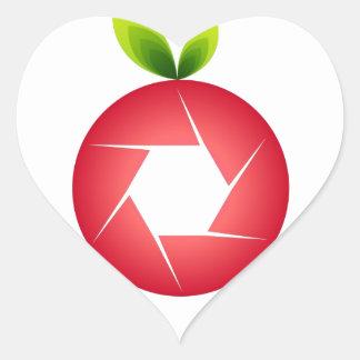 Photo Fruit Heart Sticker