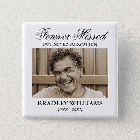 Photo Funeral Memorial Button
