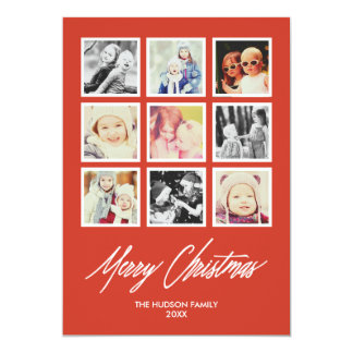 Photo Gallery Square Photos Collage Holiday Card