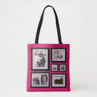 Photo Gallery Tote with Pink Background