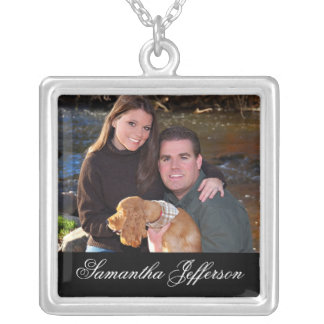 Photo Gift Necklace - Message w Horizontal Photo