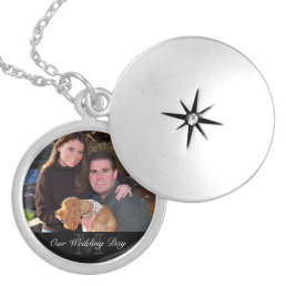 Photo Gift Necklace - Monogram + Custom Text