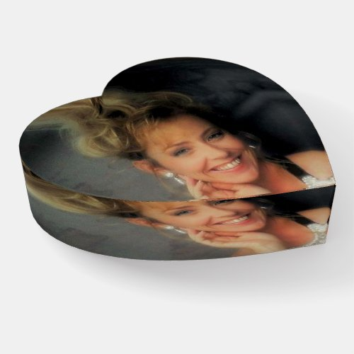 Photo Gifts Glass Heart Paperweight