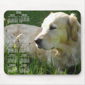 Photo Golden Retriever Calendar 2016 Mouse Pads