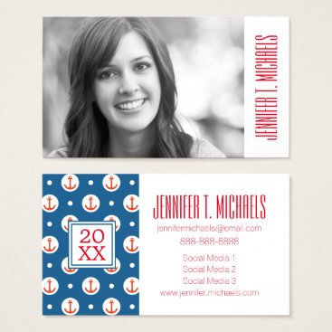 Beach Themed Photo Graduation | Anchor Dots Business Card