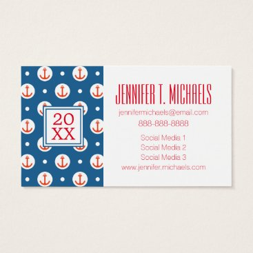 Beach Themed Photo Graduation | Anchor Dots Business Card