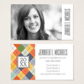 Photo Graduation   Argyle Sweater Business Card