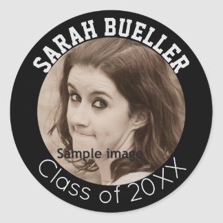 Photo Graduation | Create Your Own Name Class Year Classic Round Sticker