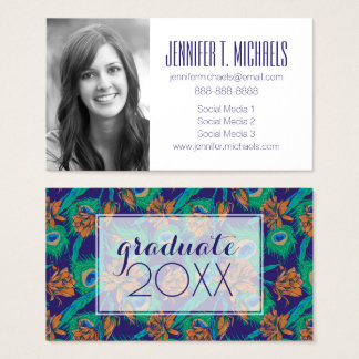 Photo Graduation | Flowers And Feathers Business Card