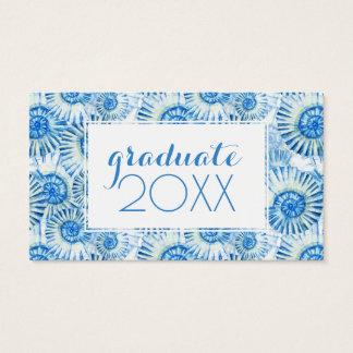 Photo Graduation | Fun Shell Pattern Business Card