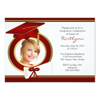 Photo Graduation Invitation