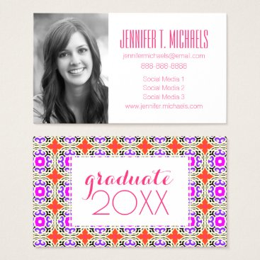 Aztec Themed Photo Graduation | Moroccan Motifs Business Card
