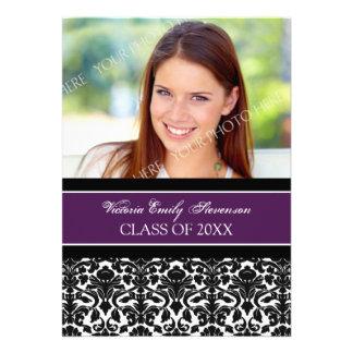 Photo Graduation Party Invitation Card Purple