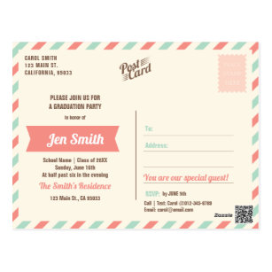 Graduation invitation postcards zazzle photo graduation party invitation postcard filmwisefo