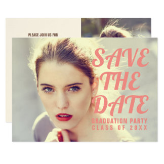 Photo Graduation Party Invitation. Save The Date. Card
