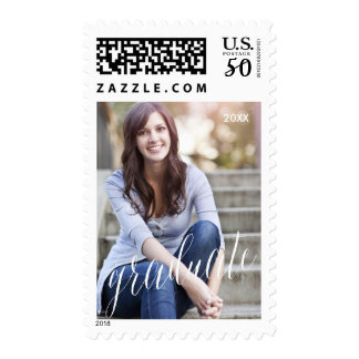 Photo Graduation Postage Stamp