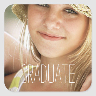 Photo Graduation Seals Modern High School Graduate