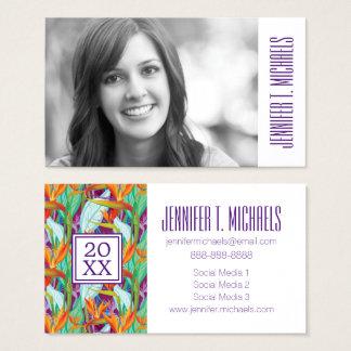 Photo Graduation | Strelitzia Pattern Business Card