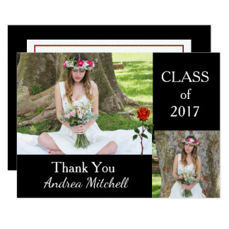 Photo Graduation Thank You Card