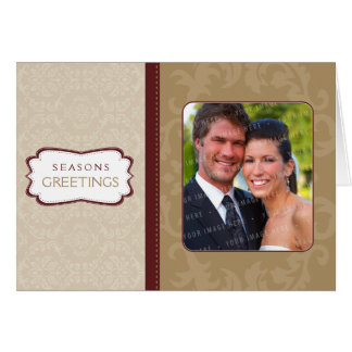 PHOTO GREETING CARD :: divinely damask L5