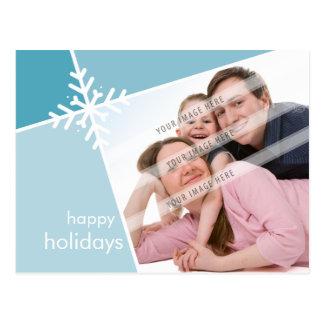 PHOTO GREETING POSTCARD :: modernista snowflake L3