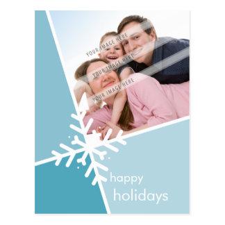 PHOTO GREETING POSTCARD :: modernista snowflake P3
