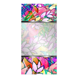 Photo Grunge Art Floral Abstract Photo Cards