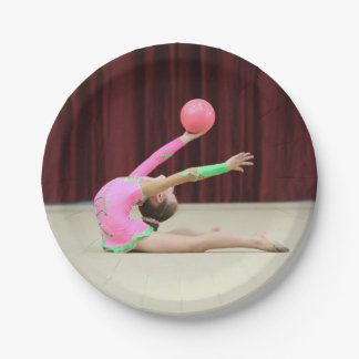 Photo Gymnastic paper plates party supplies