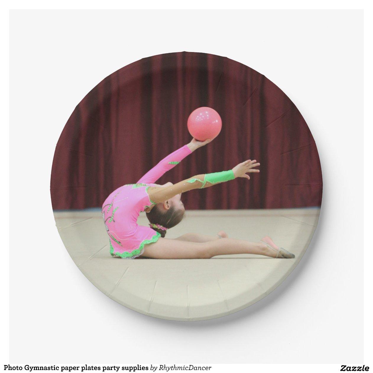 Photo Gymnastic Paper Plates Party Supplies 7 Inch Paper  sc 1 st  Castrophotos & Disco Paper Plates - Castrophotos