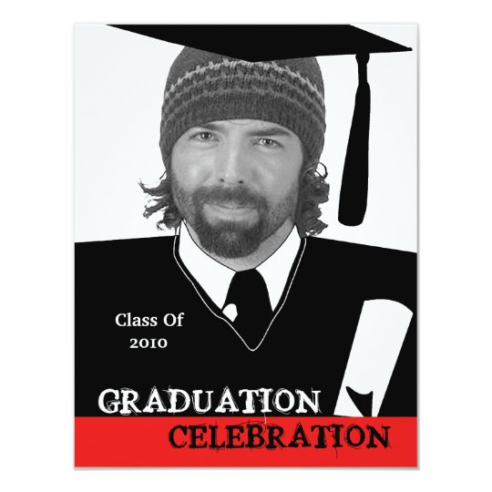Photo Head Shot Insert Graduation Party Invitation