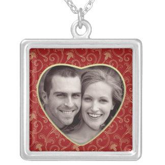 Photo Heart Frame Shape Necklace