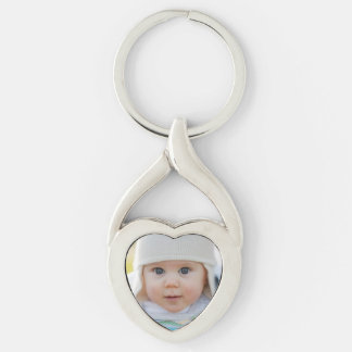 Photo Heart-Shaped Keychain