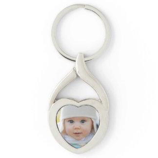 Photo Heart-Shaped Keychain
