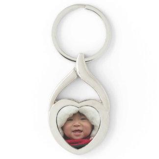 Photo Heart Shaped Keychain