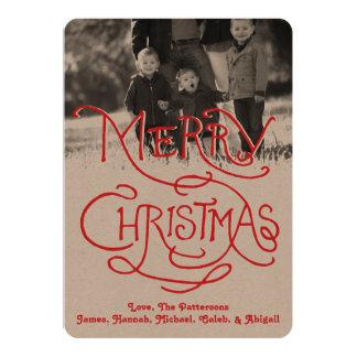 Photo Holiday Card: Artisan Kraft Merry Christmas Card