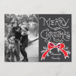 "Photo Holiday Card: Chalkboard Merry Christmas<br><div class=""desc"">Photo Holiday Card: Chalkboard Rustic Red Bow Photo Merry Christmas Photography © Storytree Studios,  Stanford,  CA</div>"