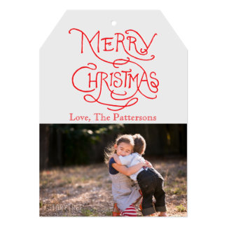 Photo Holiday Card: Typography Merry Christmas Card