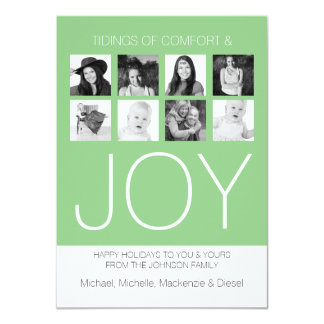 Photo Holiday Comfort and Joy Personalized Customized Invitation Cards