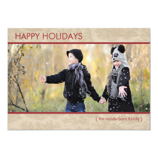 Photo Holiday Flat Card Modern Country