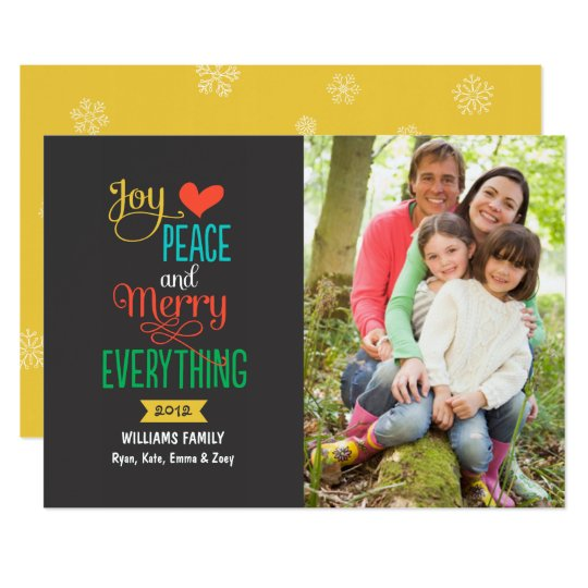 Photo Holiday Greeting Card | Merry Everything