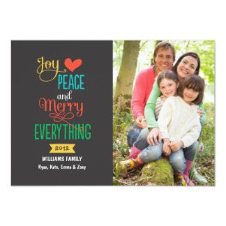 """Photo Holiday Greeting Card   Merry Everything 5"""" X 7"""" Invitation Card"""