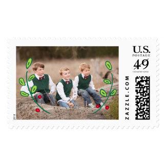 Photo Holiday Large Postage: Festive Foliage Postage