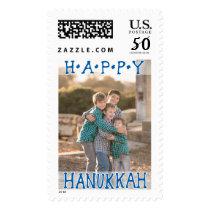 Photo Holiday Large Postage: Happy Hanukkah Postage