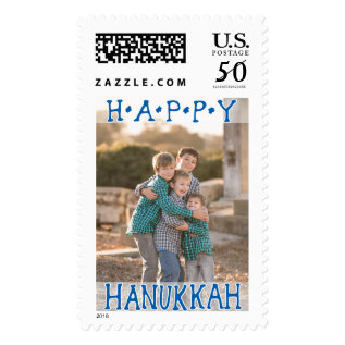 Photo Holiday Large Postage: Happy Hanukkah Postage at Zazzle