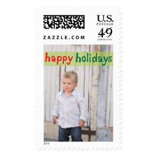Photo Holiday Large Postage: Happy Holidays Postage