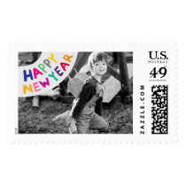 Photo Holiday Large Postage: Happy New Year Postage